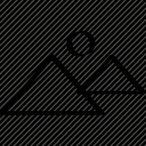 giza, outdoors, pyramid, travel icon