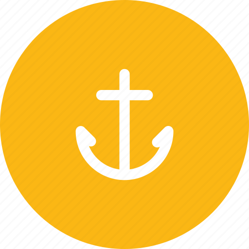 anchor, ball, ship, travel, travelling, vacation, waterway icon