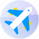 apps, booking, flight, plane, tranport, travel, trip icon