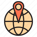 airplane, boat, map, mark, shop, travel, traveller icon