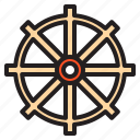 airplane, boat, ship, steering, travel, traveller, wheel icon