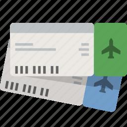 airplane, book, flight, tickets, travel icon