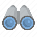 binoculars, explore, look, search, zoom icon