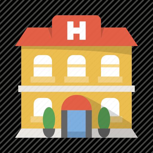accomodation, building, hospital, hostel, hotel, room icon