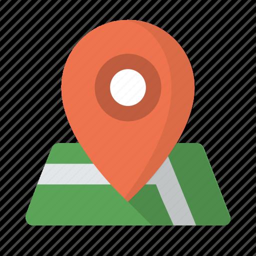destination, location, map, marker, pin, place icon