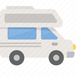 camper, camping, recreational, rv, vacation, vehicle icon