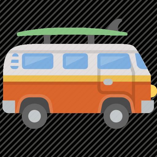 bus, hippy, surf, surfing, van, vw, westfalia icon