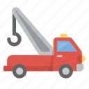assistance, help, tow, towtruck, truck icon