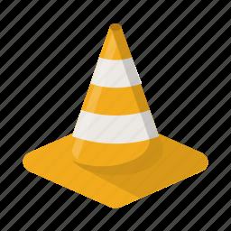 alert, cone, construction, traffic, warning, yellow icon