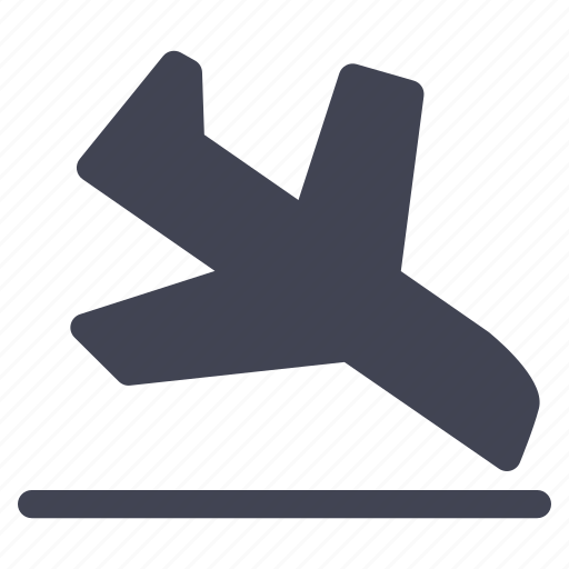 aeroplane, airplane, arrival, essentials, holiday, transportation, travel icon