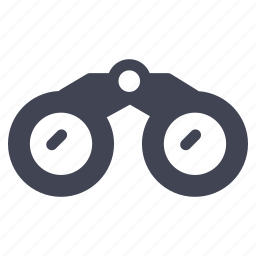 binoculars, essentials, find, search, tool, travel, view icon