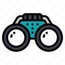 binocular, spyglass, telescope, travel, vision icon