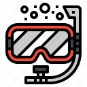 activity, diving, mask, snorkel, swimming icon