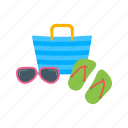 accessories, bag, camera, luggage, packing, sunglasses, travel icon