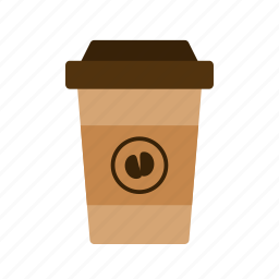 brown, car, coffee, cup, drink, tour, travel icon
