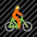 cyclist, mountain, cycling, travel, bike, bicycle, sport