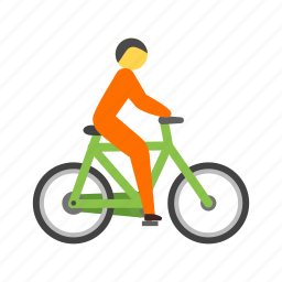 bicycle, bike, cycling, cyclist, mountain, sport, travel icon