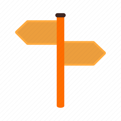 arrow, direction, guidance, signpost, signs, travel, way icon