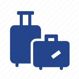 baggage, flight, luggage, recreation, suitcase, travel, trip, vacation, weekend icon