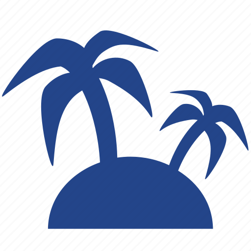 island, palm, paradise, recreation, relax, tree, tropical, vacation icon