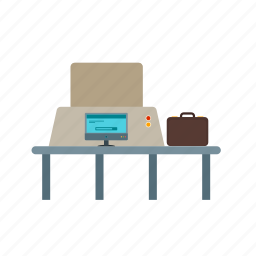 briefcase, inspection, suit case, travel, trip, vacation, wardrobe icon