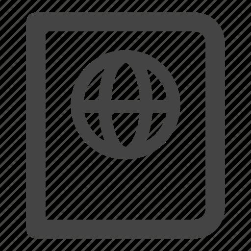 global, globe, guide, language, notebook, web, world icon