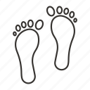 foot, footprint, footprints, track, step