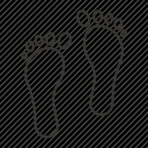 foot, footprint, footprints, step, track icon