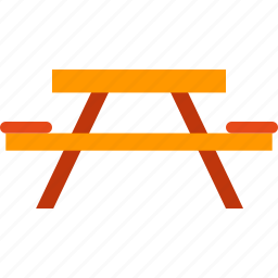 camping, desk, furniture, rest, table icon