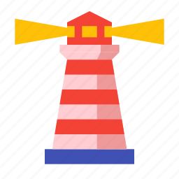light, lighthouse, navigation, sea, seacoast, tower icon