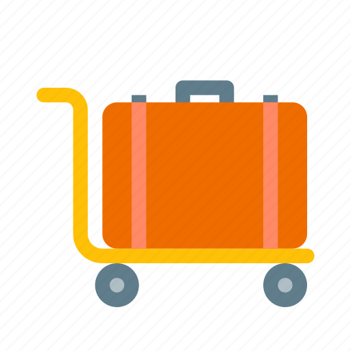 bag, hotel, luggage, suitcase, tourism, travel, trolley icon