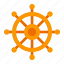 ship, wheel, boat, cruise, sea, transport