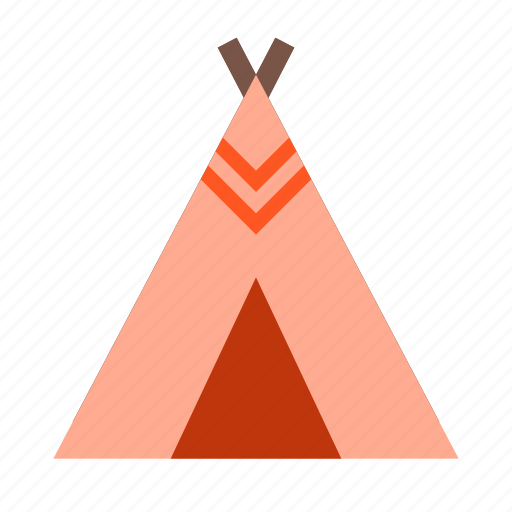 camp, indians, picnic, reds, tent, travel, wigwam icon