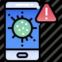 pandemic, notification, warning, alarm, alert, app, mobile