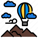 adventure, air, balloon, fly, travel icon