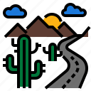 arizona, cactus, desert, landscape, nature icon