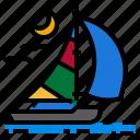 boat, journey, sea, ship, travel