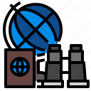concept, globe, map, travel, world icon