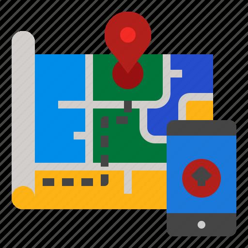 Gps, map, navigation, road, street icon - Download on Iconfinder