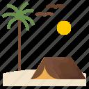 beach, sea, seaside, tentcamp