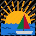 beach, boat, hot, summer, sun