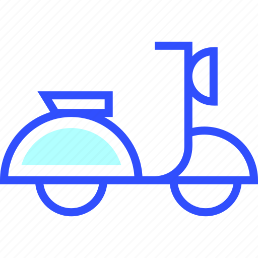 adventure, holiday, leisure, scooter, transportation, travel icon