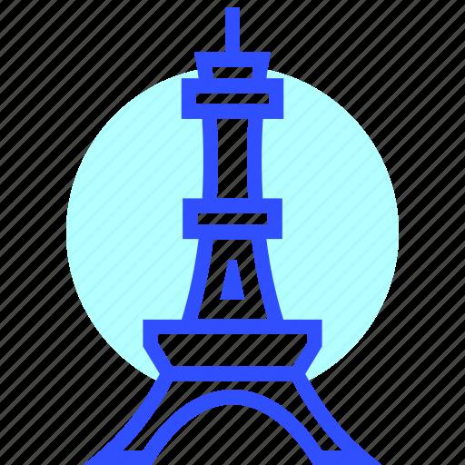adventure, eiffel, holiday, landmark, tower, transportation, travel icon