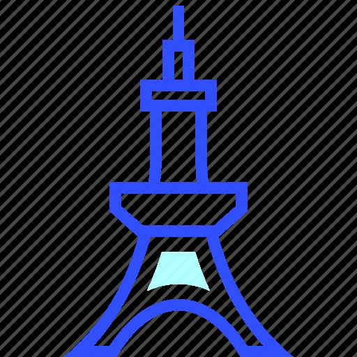 adventure, holiday, landmark, tokyo, tower, transportation, travel icon