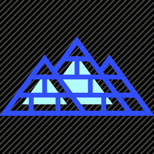 giza, landmark, leisure, of, pyramids, transportation, travel icon