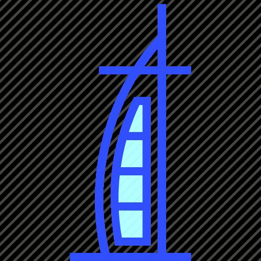al, arab, burj, holiday, hotel, landmark, travel icon