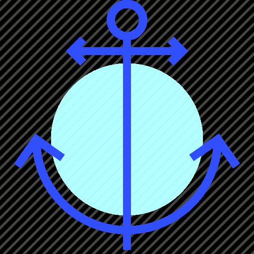 adventure, anchor, holiday, leisure, transportation, travel icon