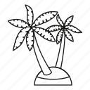 line, nature, outline, palm, plant, tree, tropical icon