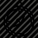 compass, location icon