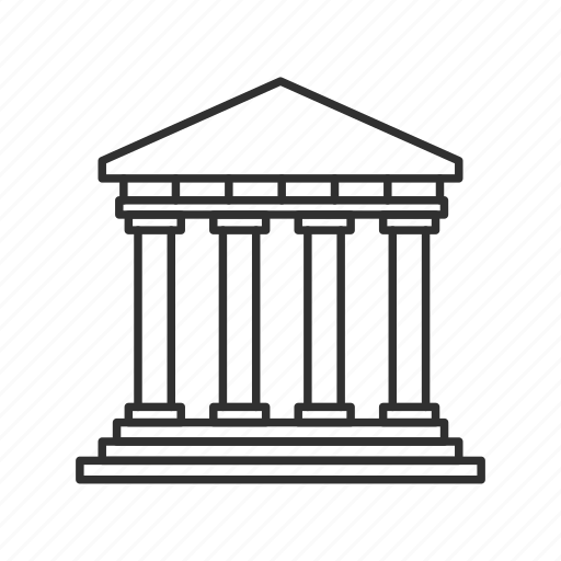 building, classical building, emoji, greek structure, olympus, parthenon, rome icon